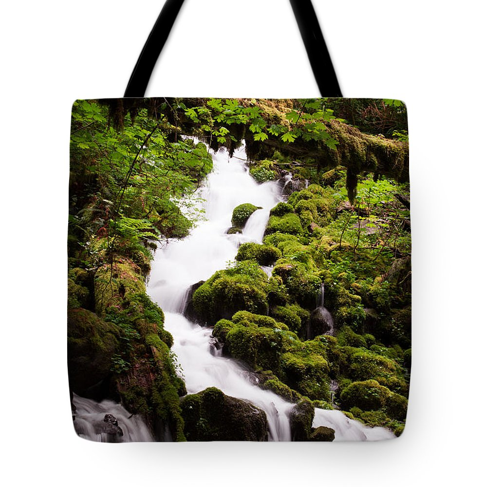 Wahkeena Tote Bag featuring the photograph Running Wild by Suzanne Luft