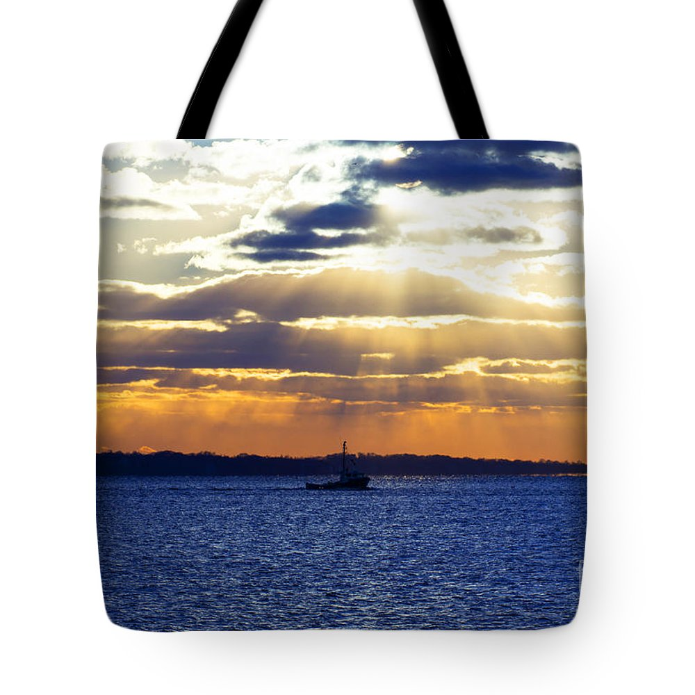 Landscape Tote Bag featuring the photograph Running With The Light by Joe Geraci