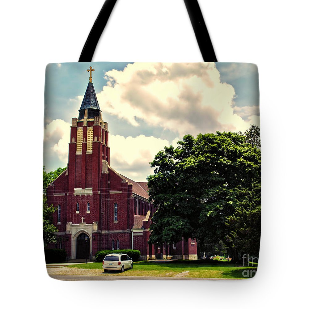 Cities Tote Bag featuring the photograph Rural Church Usa by Thomas Woolworth
