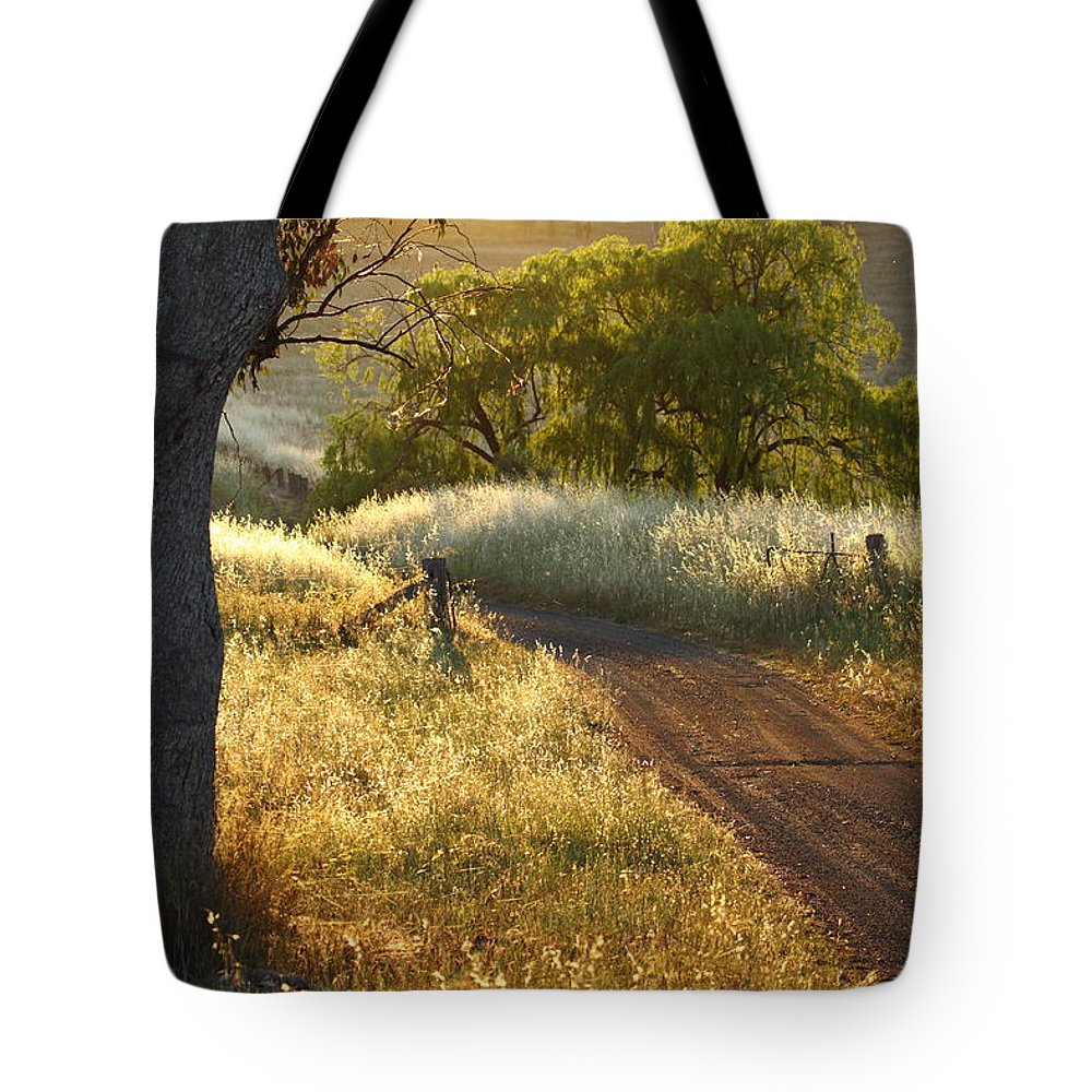 Nsw Tote Bag featuring the photograph Rural Road 2am-009691 by Andrew McInnes