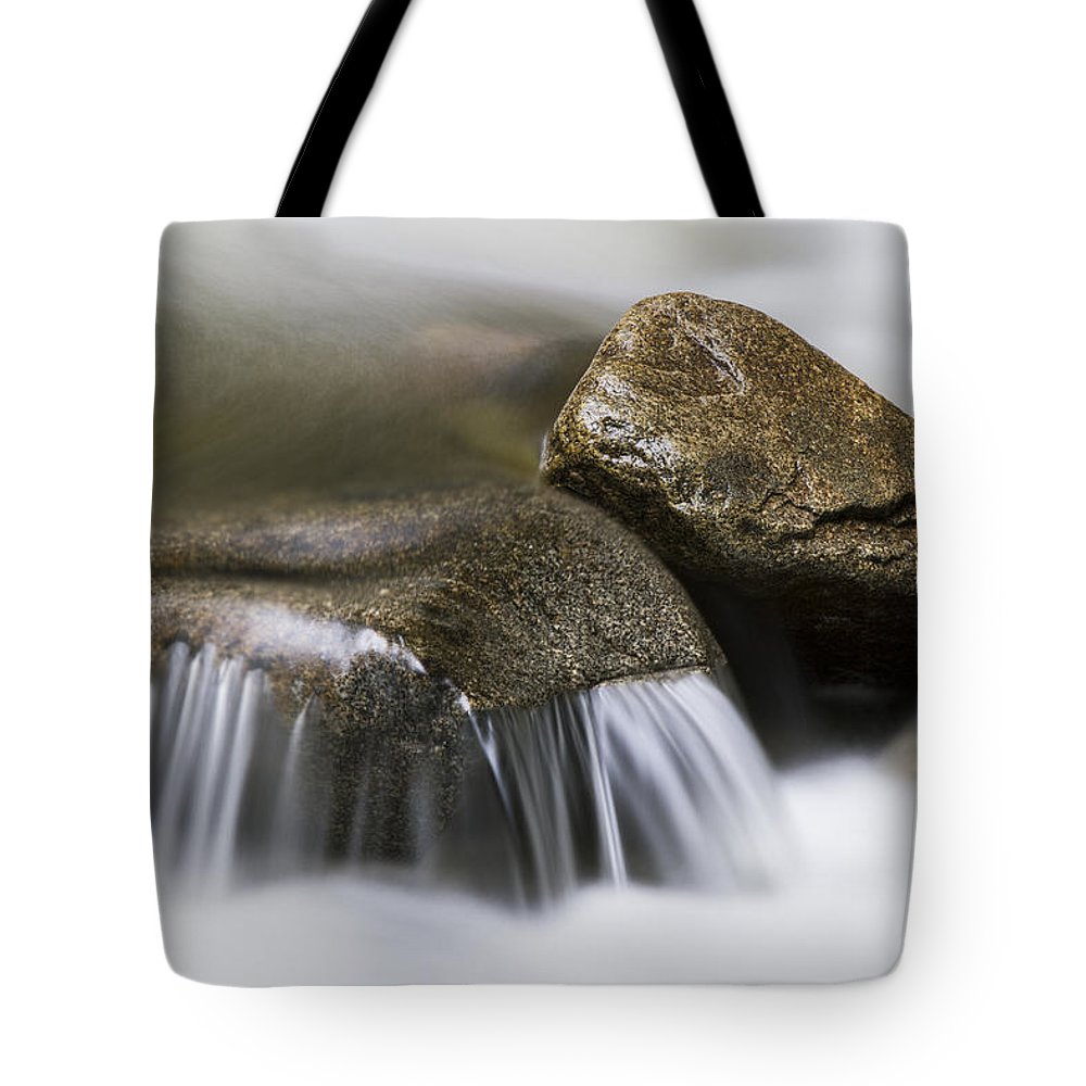 Background Tote Bag featuring the photograph Rushing Peace by Windy Corduroy