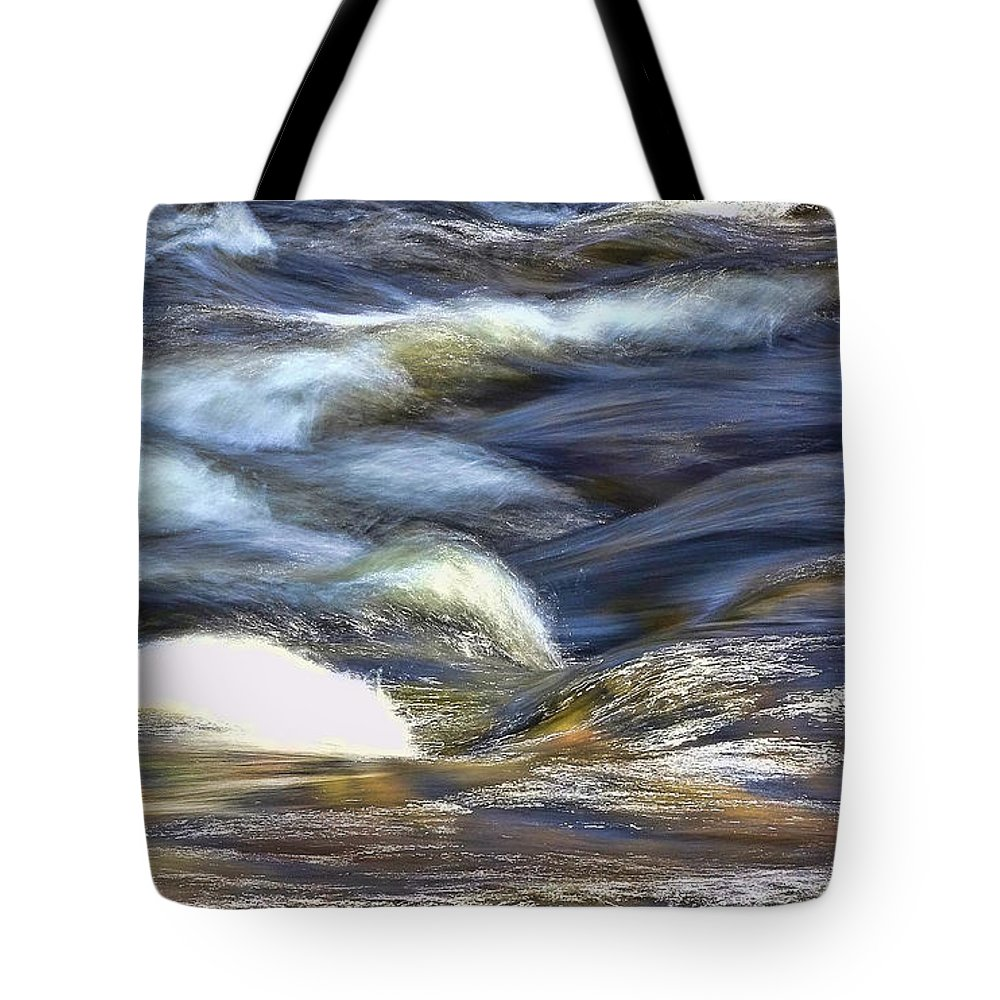 Water Tote Bag featuring the photograph Silky Water by Allen Beatty