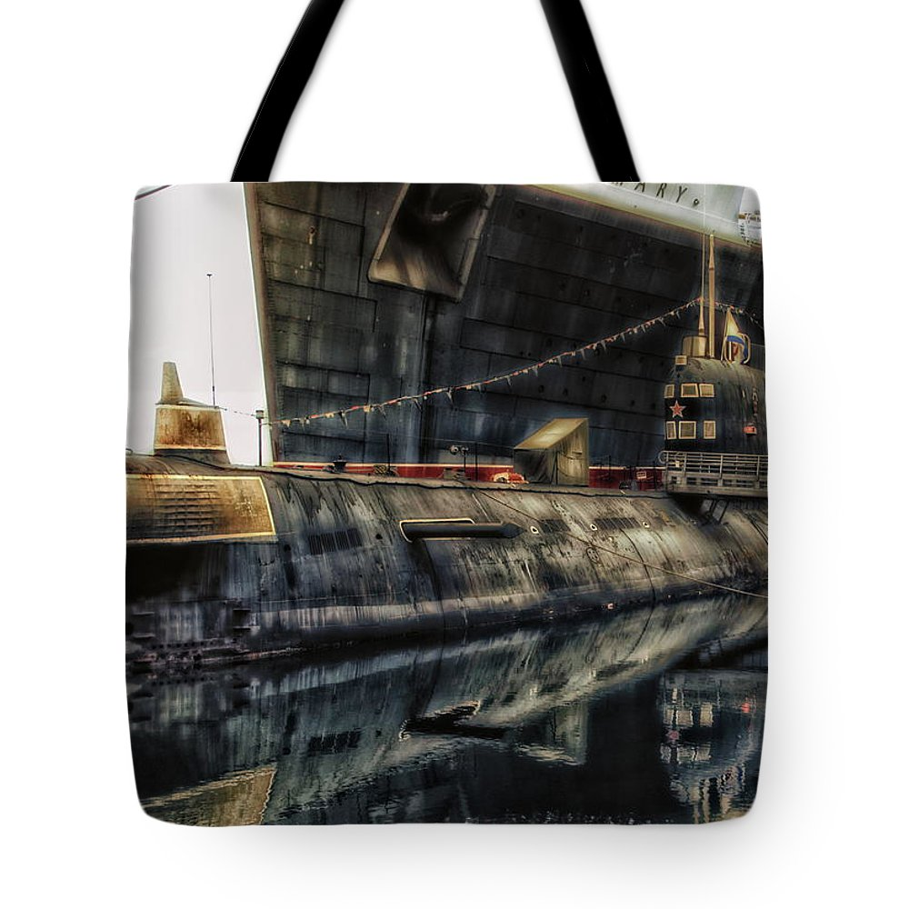 Submarine Tote Bag featuring the photograph Russian Submarine Extreme by Thomas Woolworth