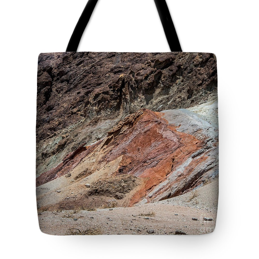 Colors Tote Bag featuring the photograph Rust Colored Formation by Stephen Whalen