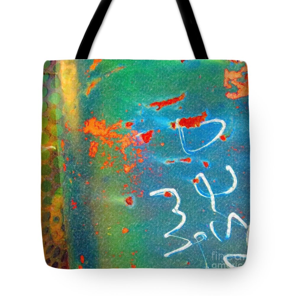 Rusted Glory Tote Bag featuring the painting Rusted Glory 5 by Desiree Paquette
