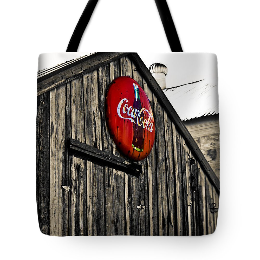 Coke Tote Bag featuring the photograph Rustic by Scott Pellegrin