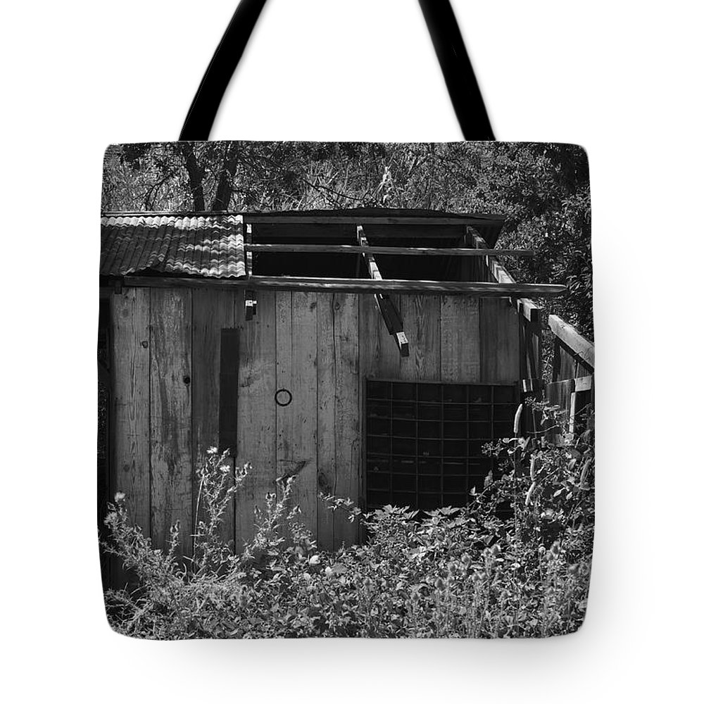 Rustic Tote Bag featuring the photograph Rustic Shed 2 by Richard J Cassato