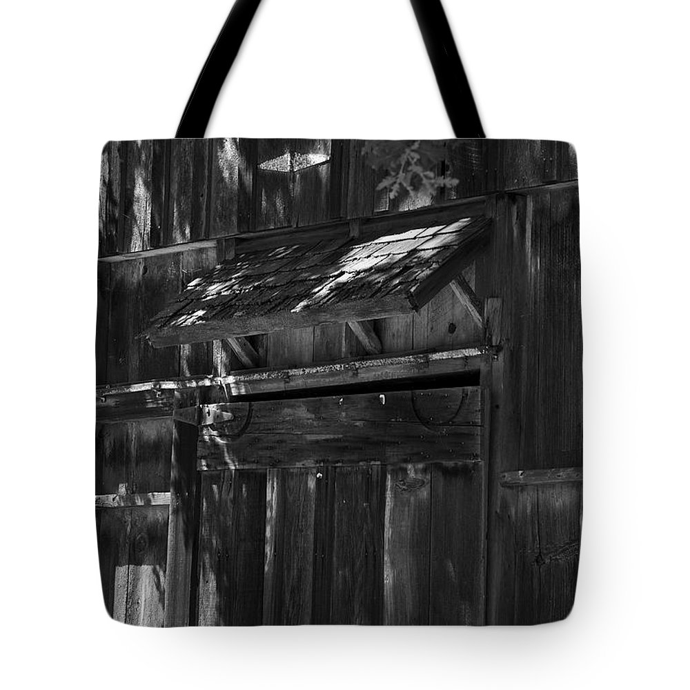 Rustic Tote Bag featuring the photograph Rustic Shed 3 by Richard J Cassato