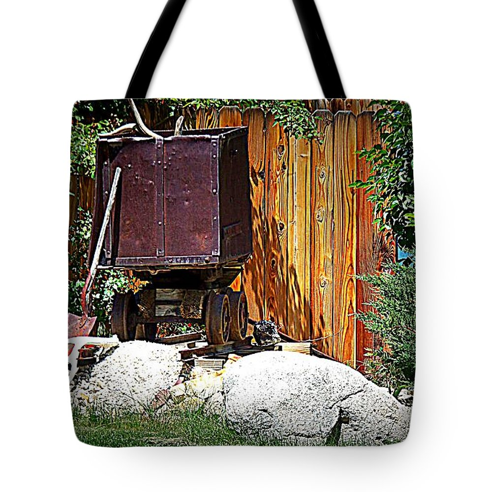 Train Tote Bag featuring the photograph Rustic Times by Bobbee Rickard