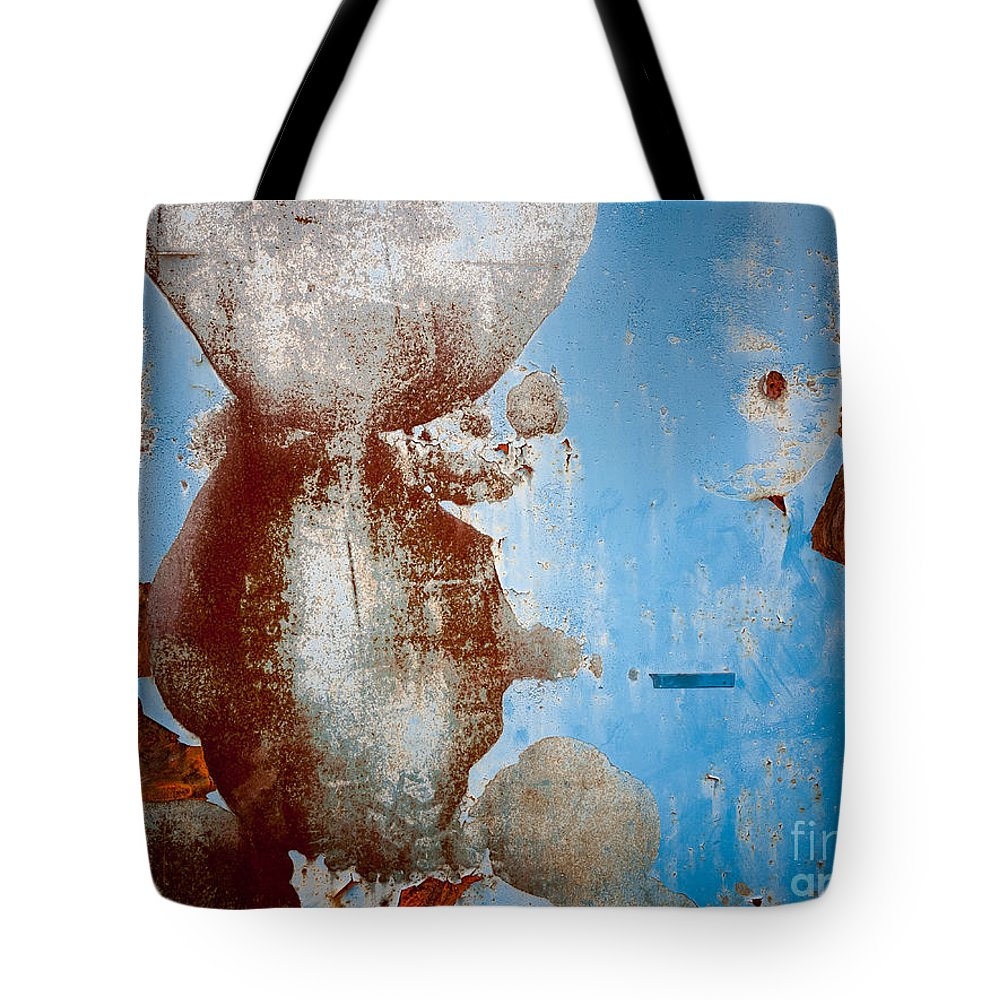 Rusty Door Abstract Tote Bag featuring the photograph Rusty Door Abstract by Brothers Beerens