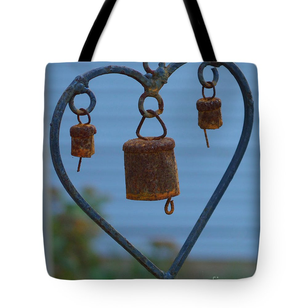 Heart Tote Bag featuring the photograph Rusty Heart 3 by Alys Caviness-Gober
