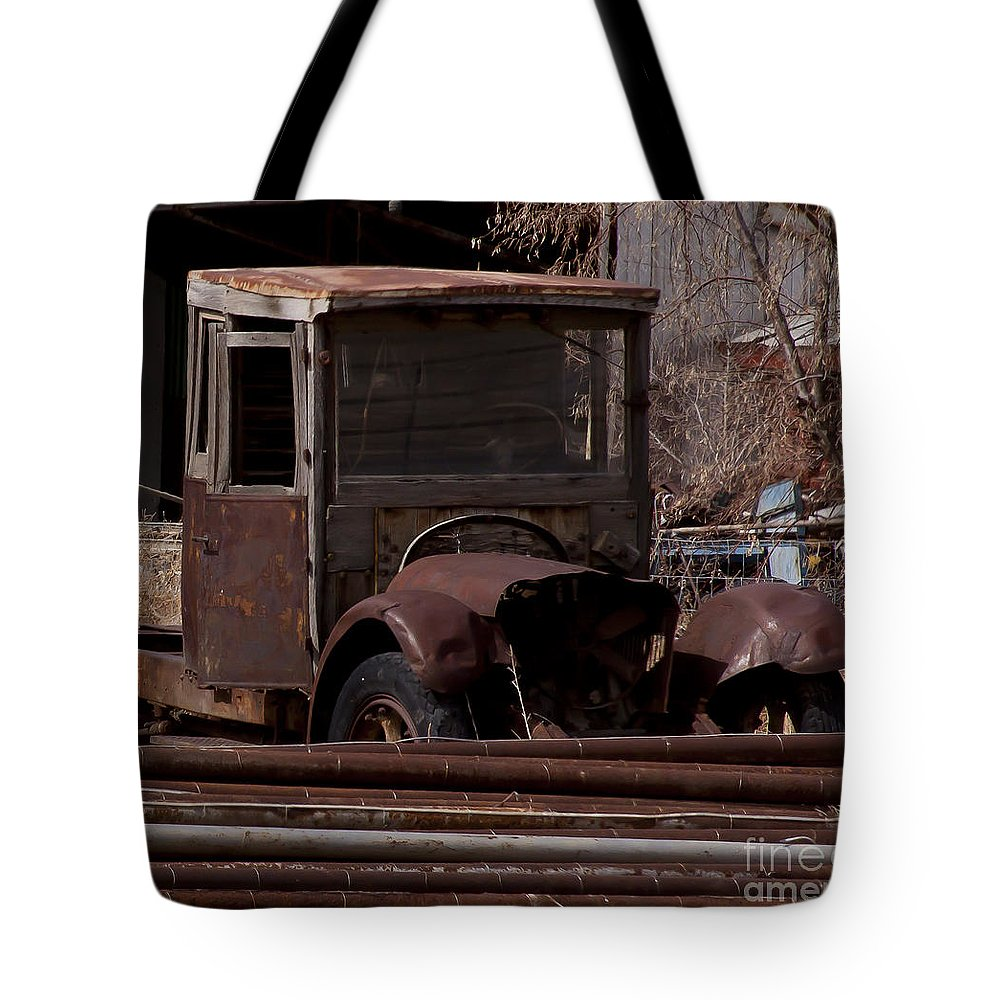 Truck Tote Bag featuring the photograph Rusty Truck  #1049 by J L Woody Wooden