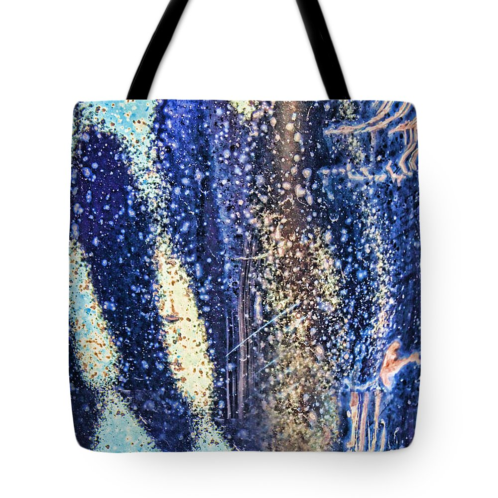 Blue Abstract Tote Bag featuring the photograph Rusty Truck by Sylvia Thornton