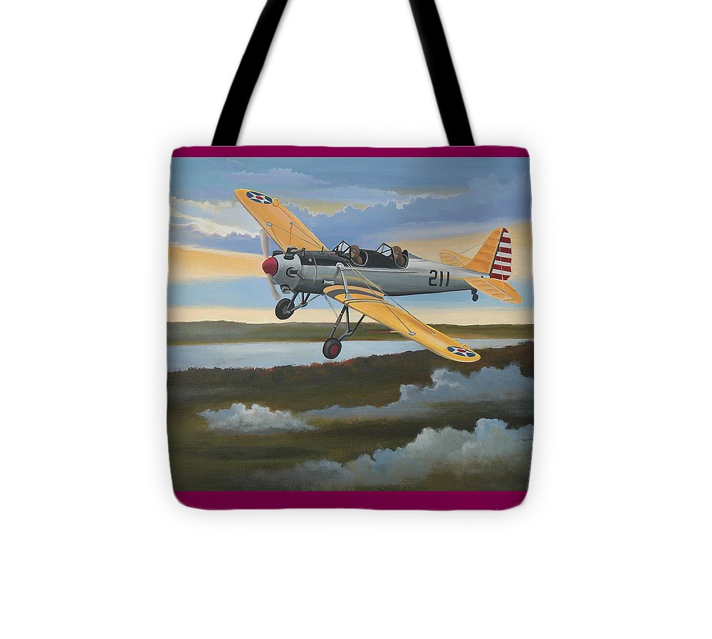 Aviation Tote Bag featuring the painting Ryan Pt-22 Recruit by Stuart Swartz