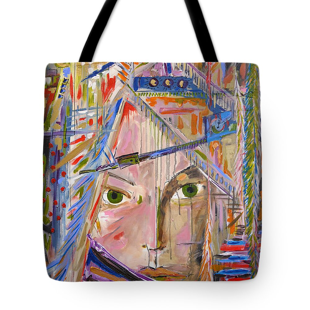 Lewis And Clark Tote Bag featuring the painting Sacagawea by Nancy Hilliard Joyce