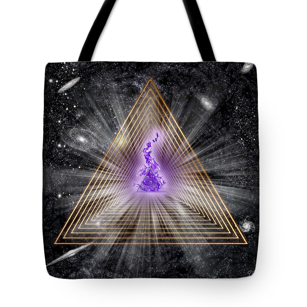 Endre Tote Bag featuring the digital art Sacred Geometry 186 by Endre Balogh
