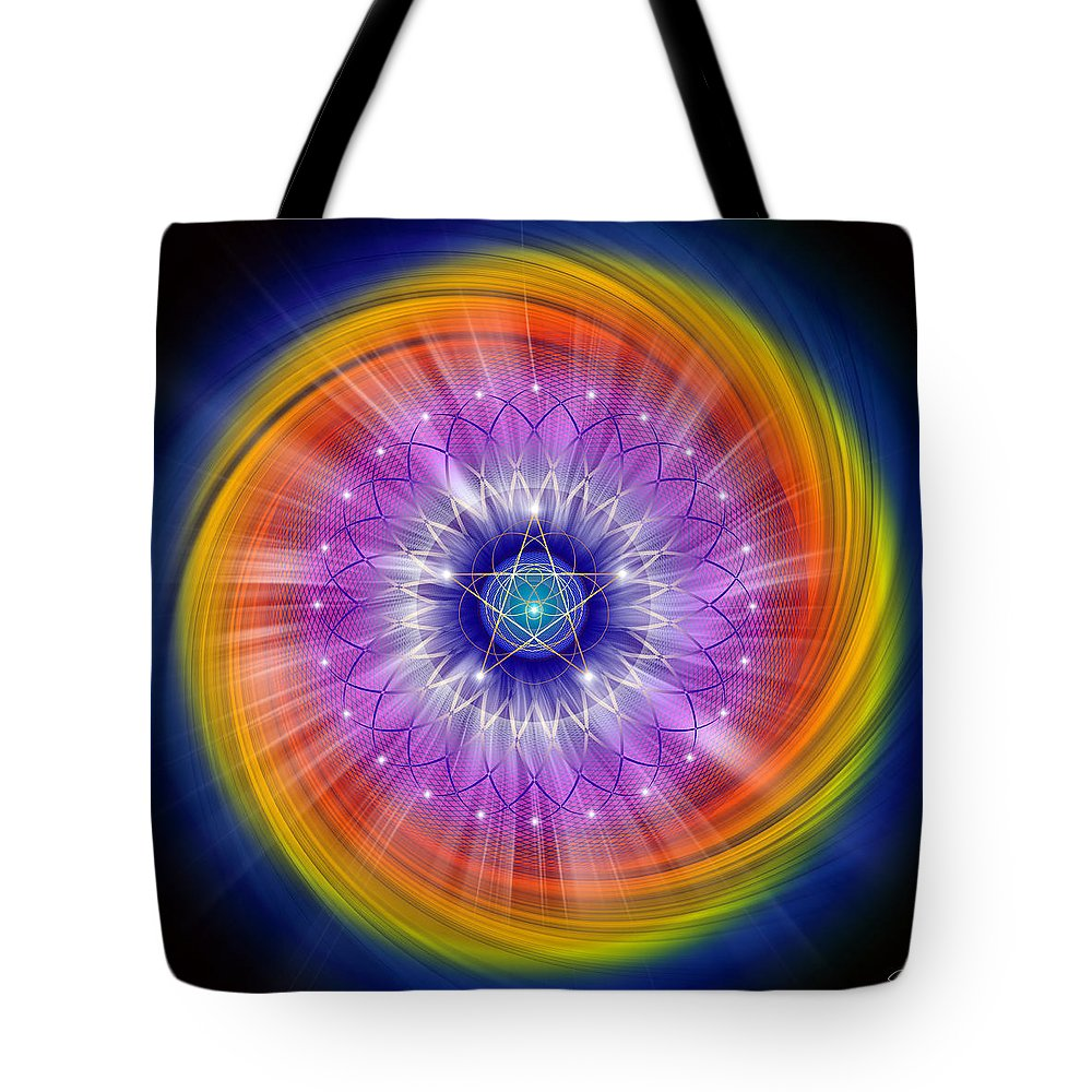 Endre Tote Bag featuring the digital art Sacred Geometry 244 by Endre Balogh
