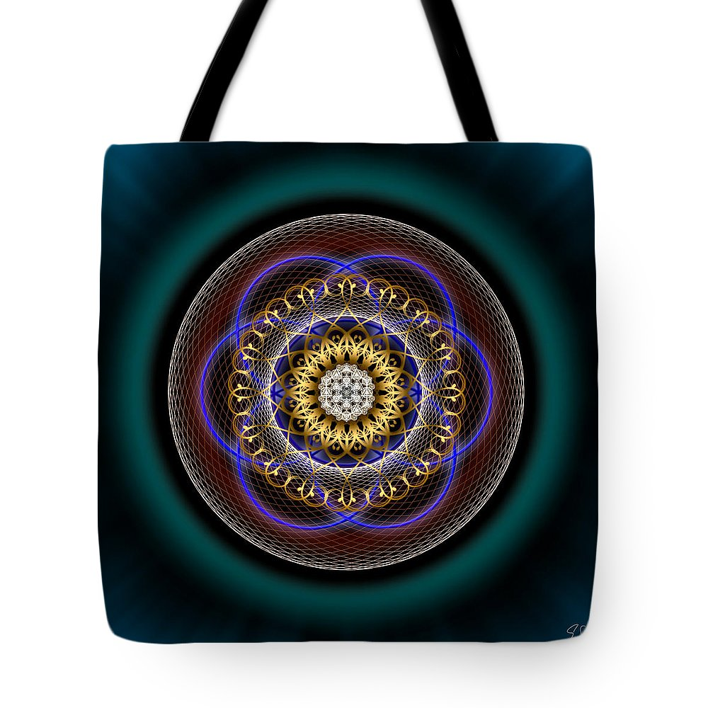 Endre Tote Bag featuring the digital art Sacred Geometry 332 by Endre Balogh