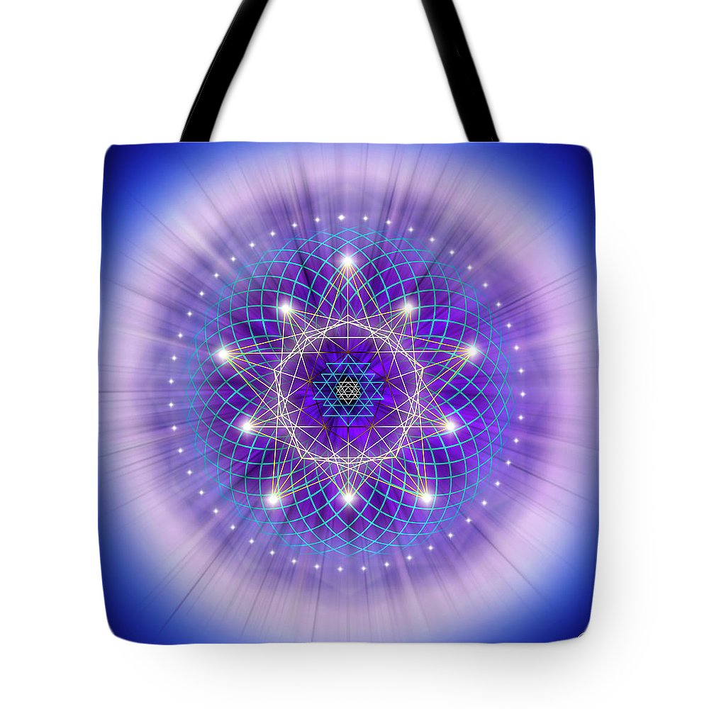 Endre Tote Bag featuring the digital art Sacred Geometry 69 by Endre Balogh