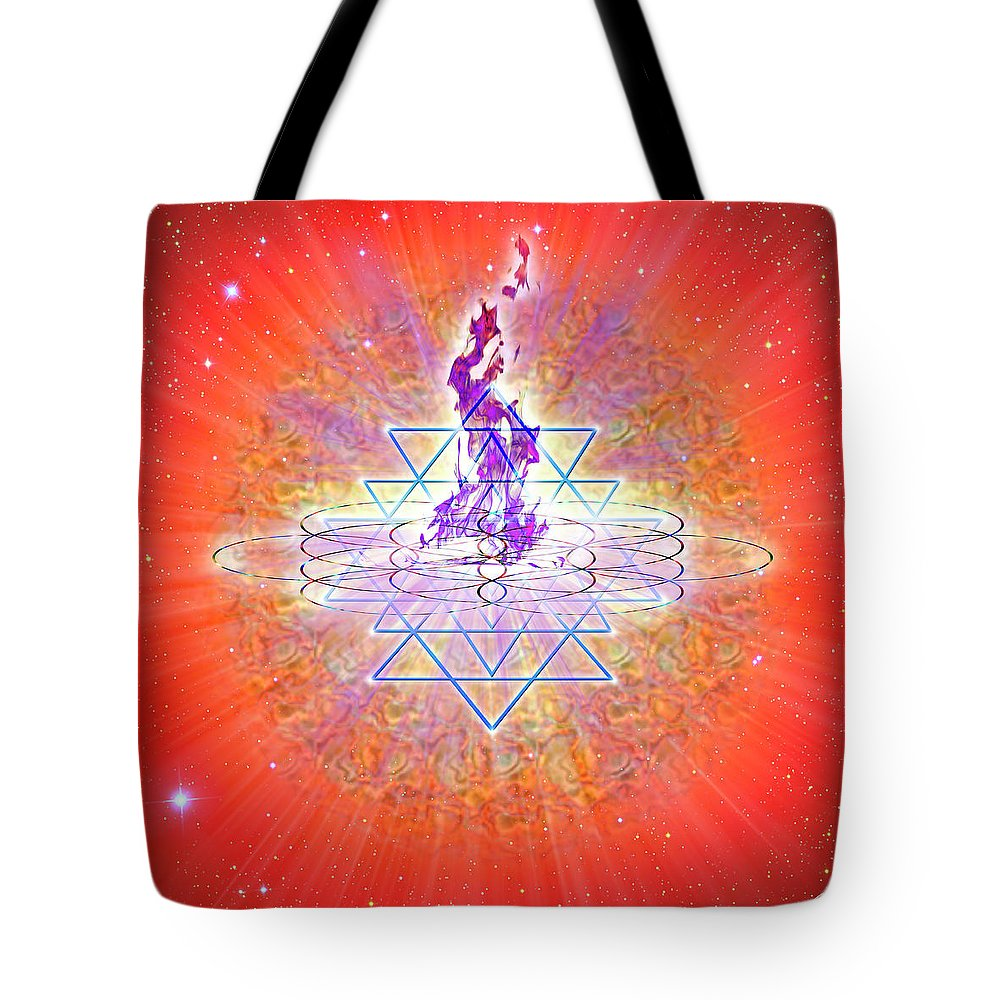 Endre Tote Bag featuring the digital art Sacred Geometry 73 by Endre Balogh