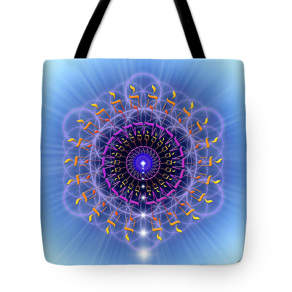 Endre Tote Bag featuring the digital art Sacred Geometry 78 by Endre Balogh