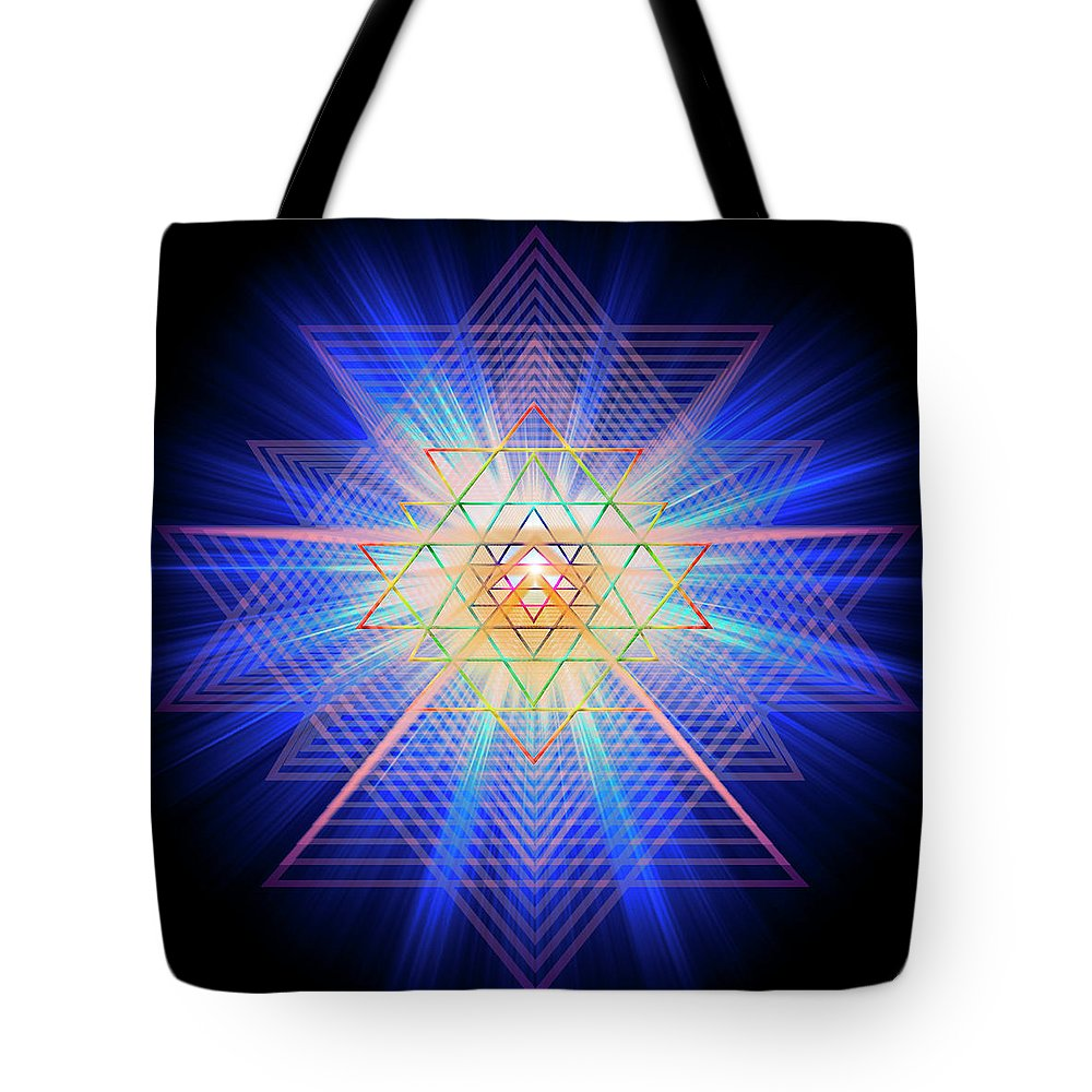 Endre Tote Bag featuring the digital art Sacred Geometry 88 by Endre Balogh