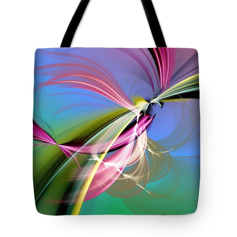Stochastic Tote Bag featuring the digital art Sacred Mysteries by Jeff Iverson