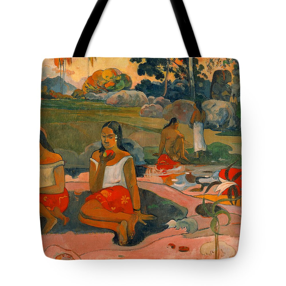 Paul Gauguin Tote Bag featuring the painting Sacred Spring. Sweet Dreams by Paul Gauguin