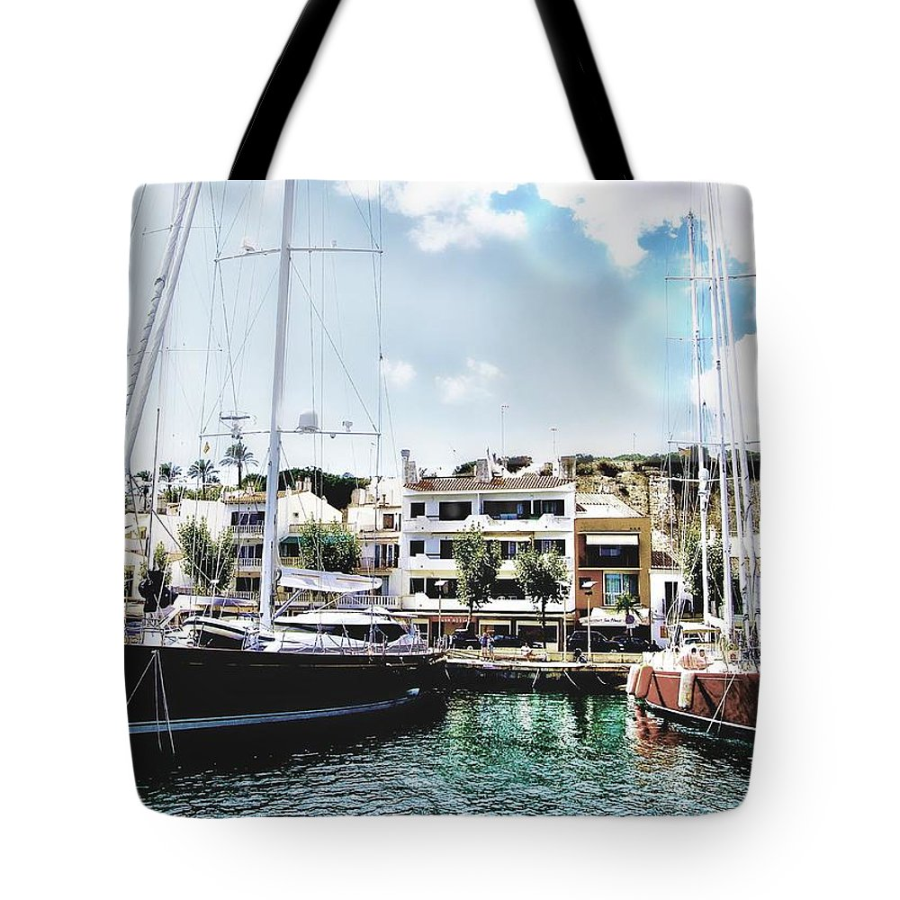 Harbour Tote Bag featuring the photograph Safe Haven by John Lynch