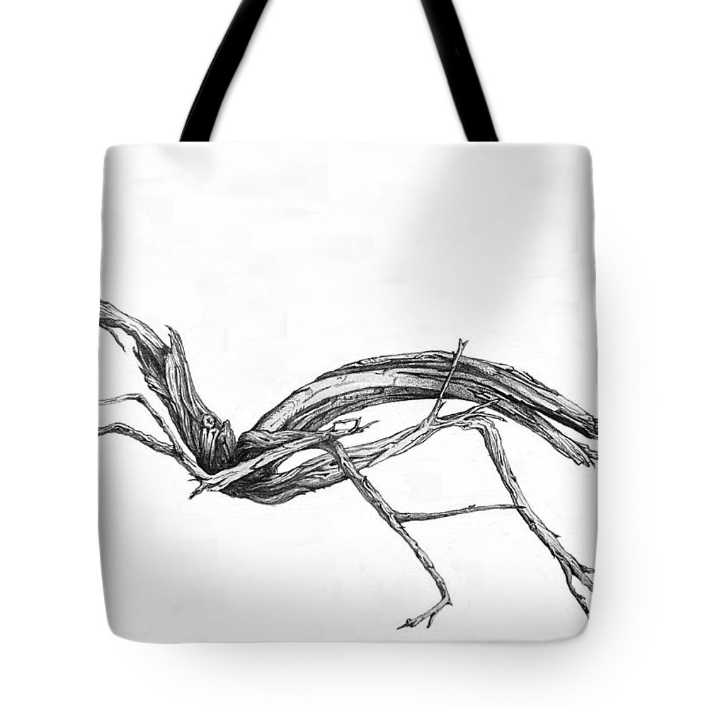 Old Tote Bag featuring the drawing Sage Brush by Shirley Miller