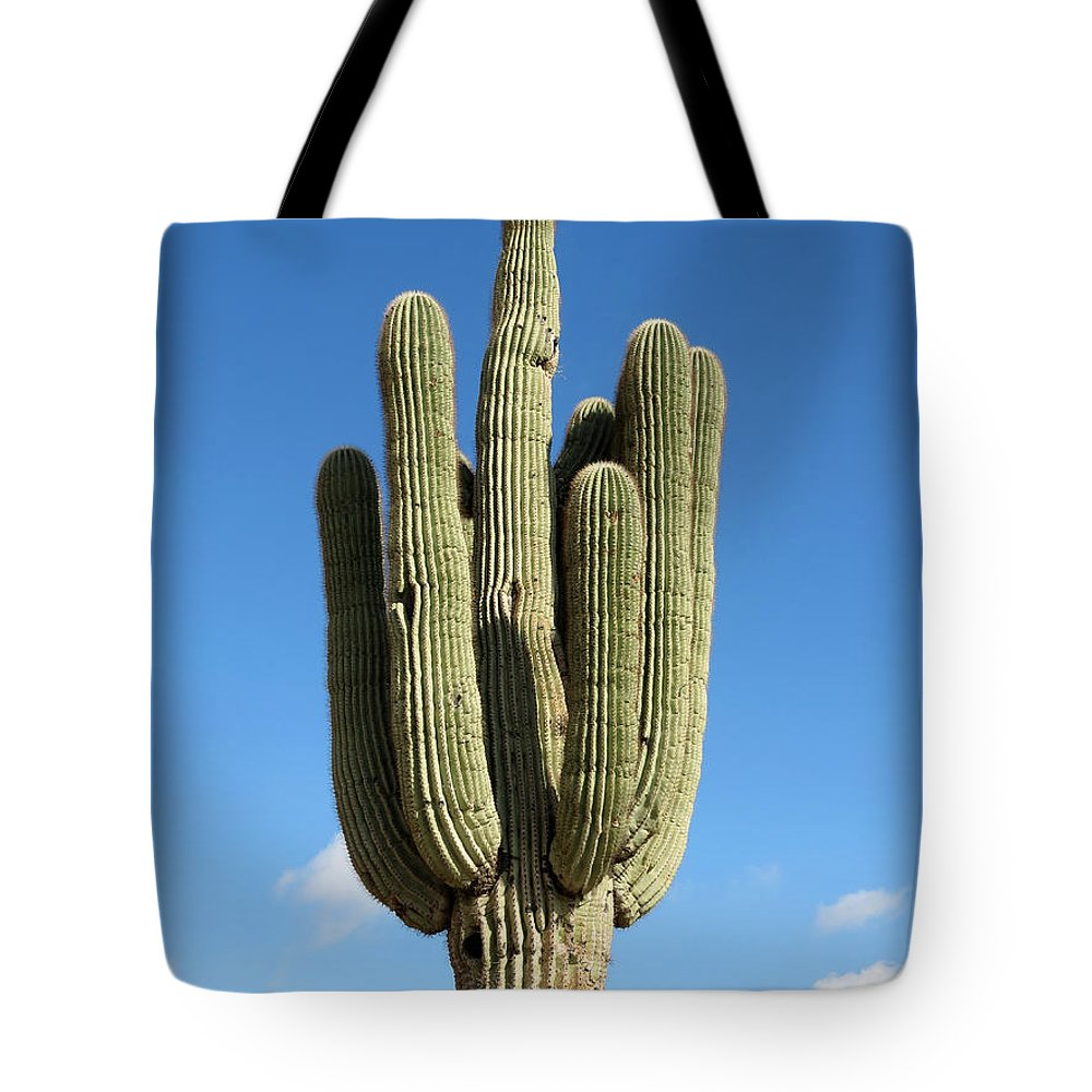 Saguaro Tote Bag featuring the photograph Saguaro by Laurel Powell