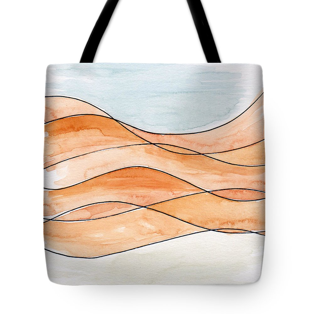 Art Tote Bag featuring the painting Sahara Sand Dunes by Anna Elkins