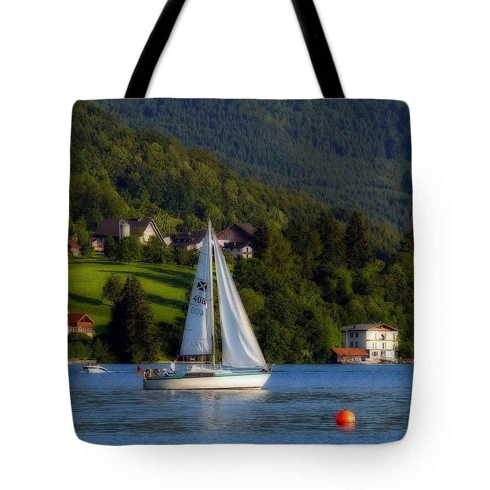 Photo Images Tote Bag featuring the photograph Sailboat by Gabi Siebenhuehner