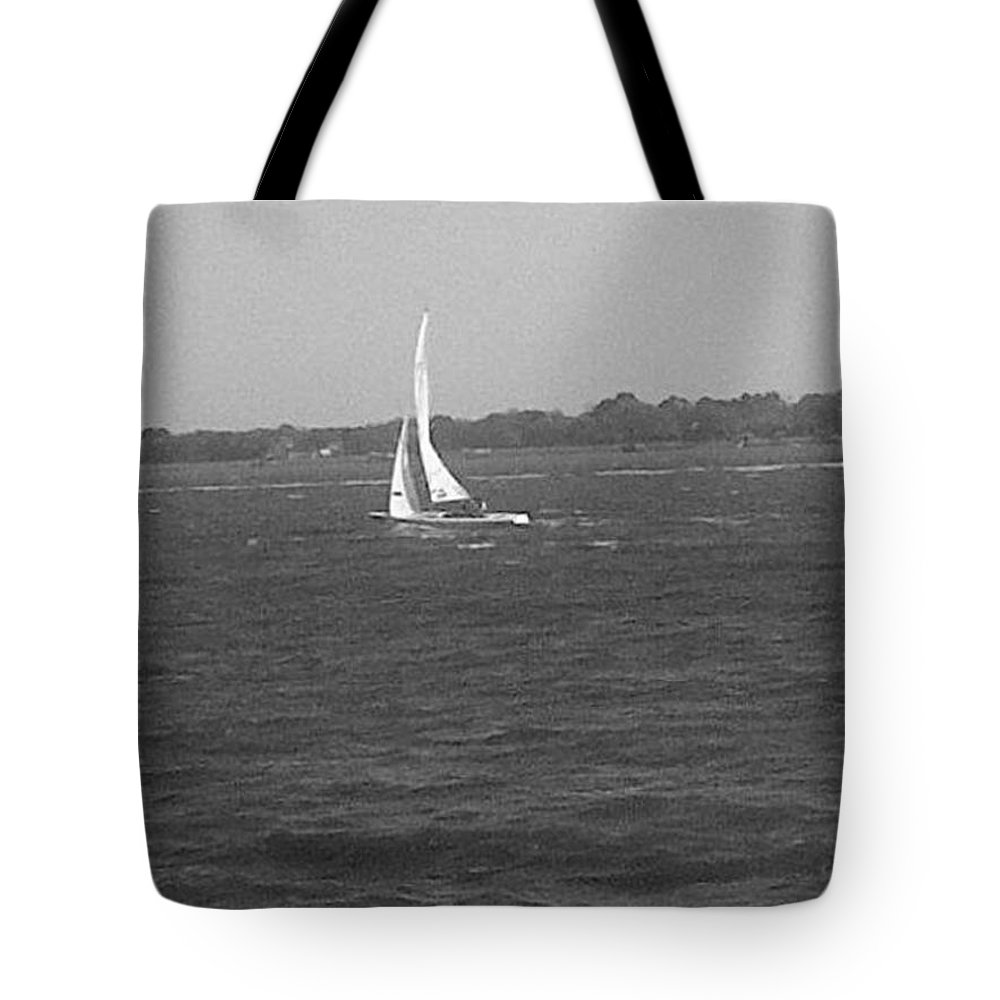 Charleston Tote Bag featuring the photograph Sailboat by Mary Koval
