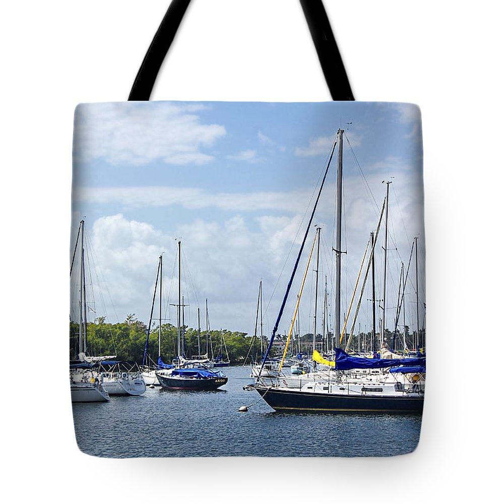 Sailboats Tote Bag featuring the photograph Sailboat Series 05 by Carlos Diaz
