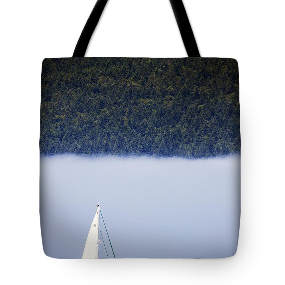 Sailboats Tote Bag featuring the photograph Sailboat Tranquility by Edward Hawkins II
