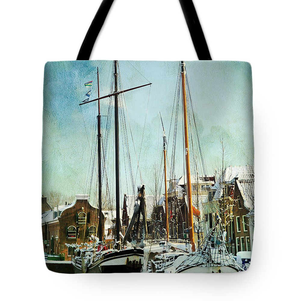Sailboat Tote Bag featuring the photograph Sailboats by Annie Snel