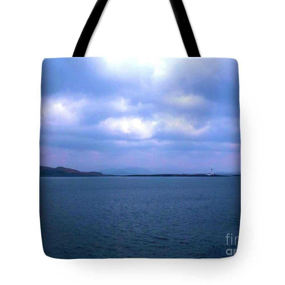The Hebrides Islands Tote Bag featuring the photograph Sailing Around The Hebrides And Mull by Joan-Violet Stretch