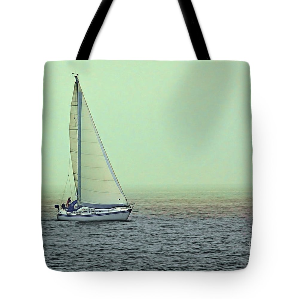Sail Tote Bag featuring the photograph Sailing Home by Jayne Gohr