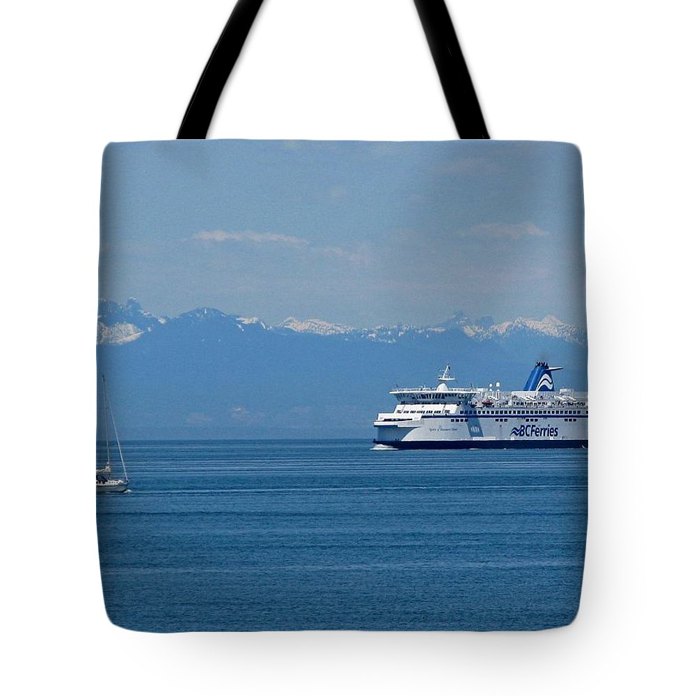 Beautiful British Columbia Tote Bag featuring the photograph Sailing In The Summer by Lena Photo Art