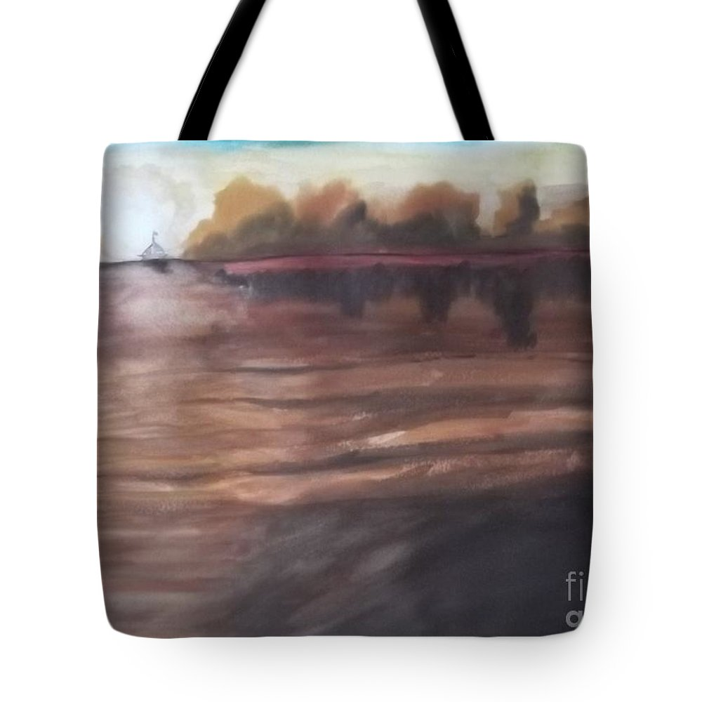Abstract Tote Bag featuring the painting Sailing In To The Sunset by John Williams