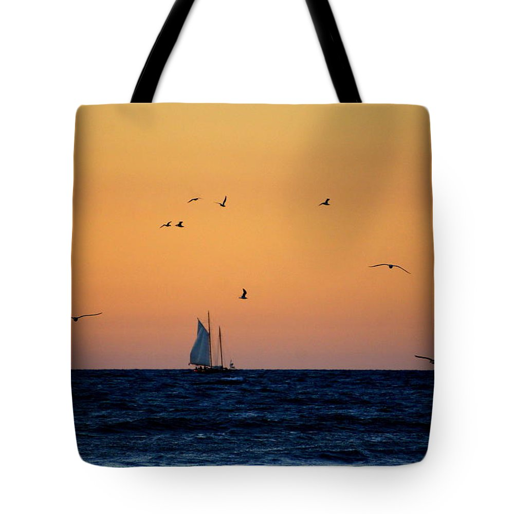 Venice Beach Tote Bag featuring the photograph Sailing In Venice 2 by Laurie Perry