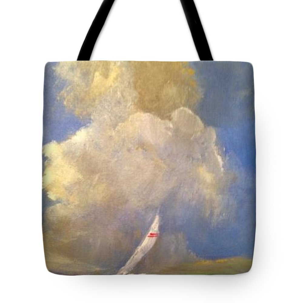 Sailboat Tote Bag featuring the painting Sailing by Kathleen Harrington