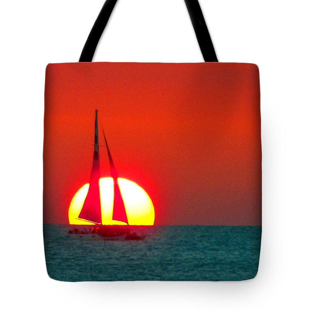 Sailing Tote Bag featuring the photograph Sailing by Mitch Cat