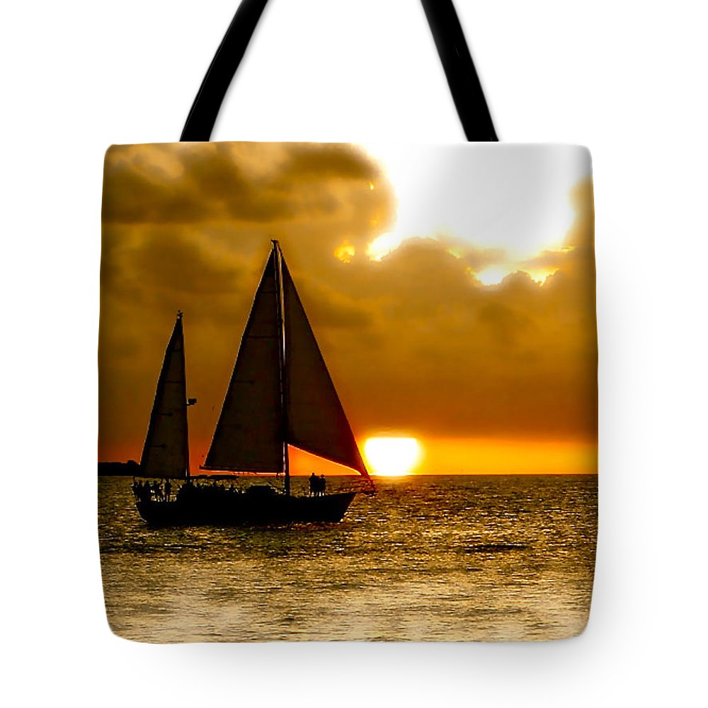 Key West Tote Bag featuring the photograph Sailing The Keys by Iconic Images Art Gallery David Pucciarelli