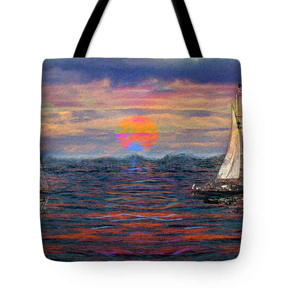 Dreaming Tote Bag featuring the photograph Sailing While Dreaming by Jeff Breiman