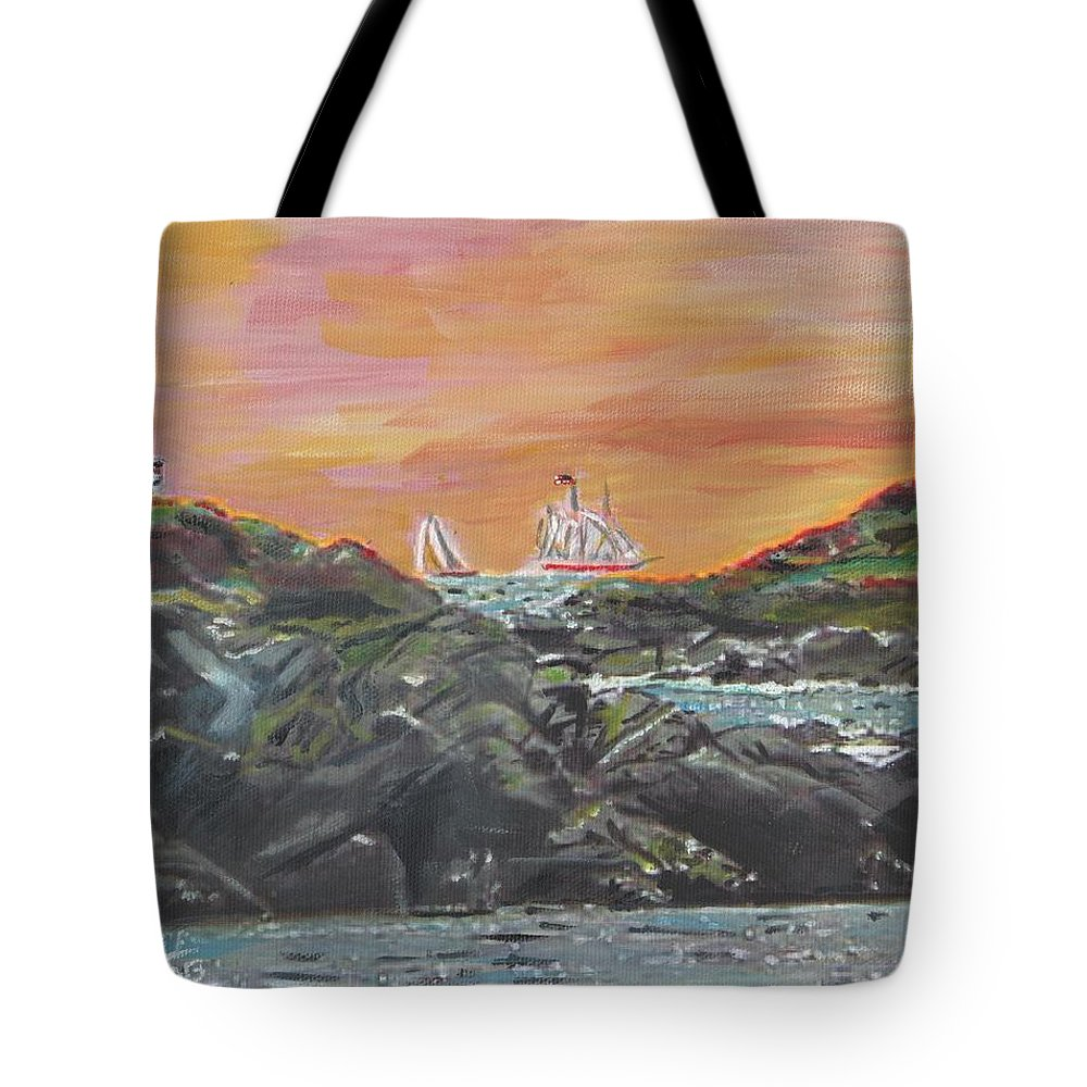 Nature Tote Bag featuring the painting Sailor's Delight by Cliff Wilson