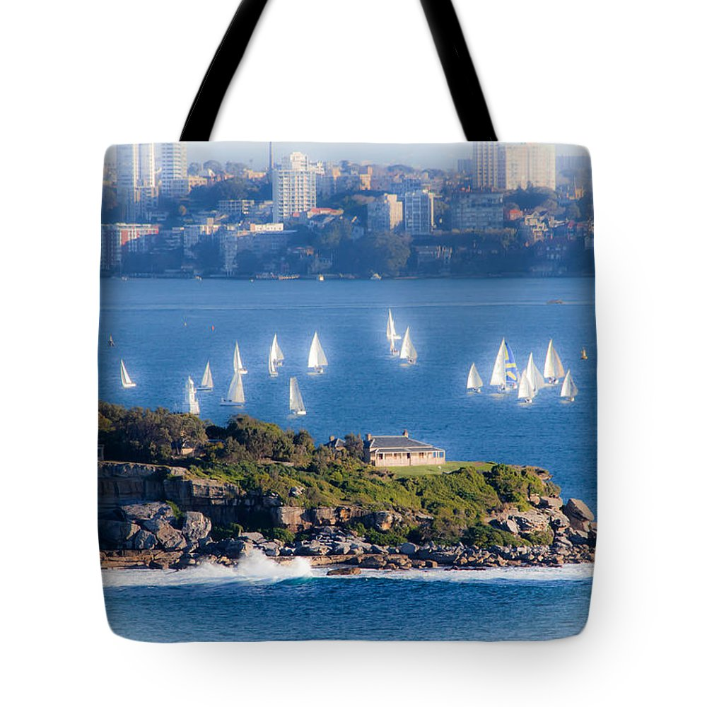 South Head Tote Bag featuring the photograph Sails Out To Play by Miroslava Jurcik