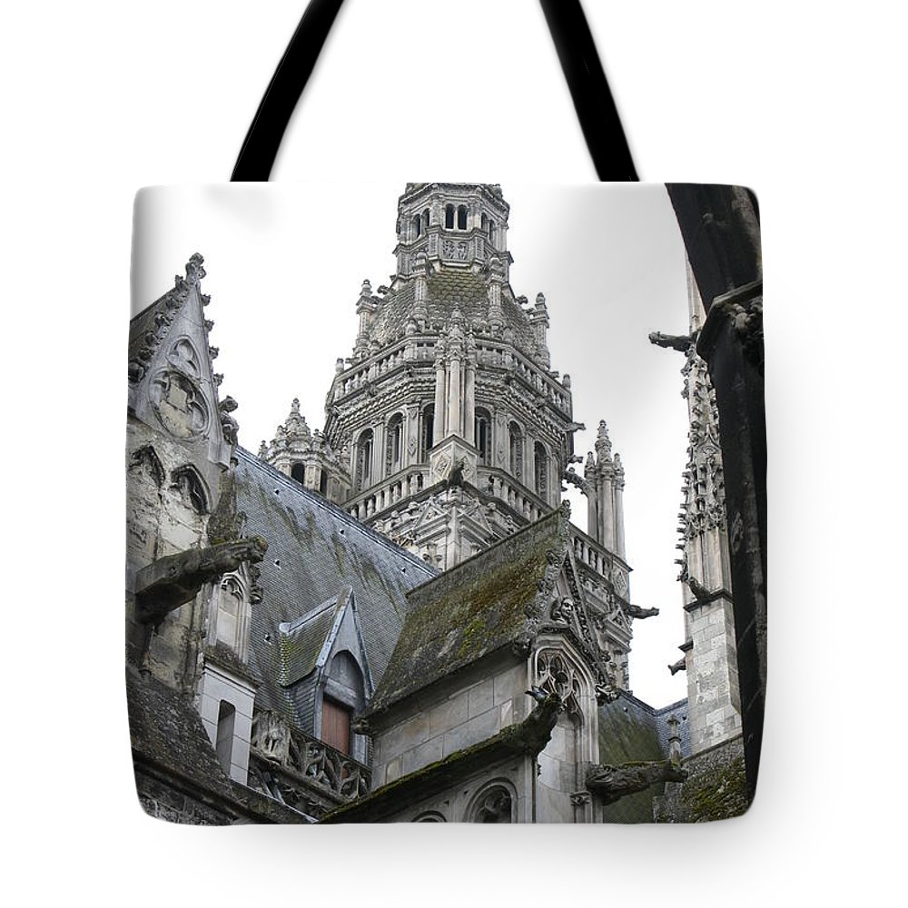 Cathedral Tote Bag featuring the photograph Saint Gatien's Cathedral Steeple by Christiane Schulze Art And Photography
