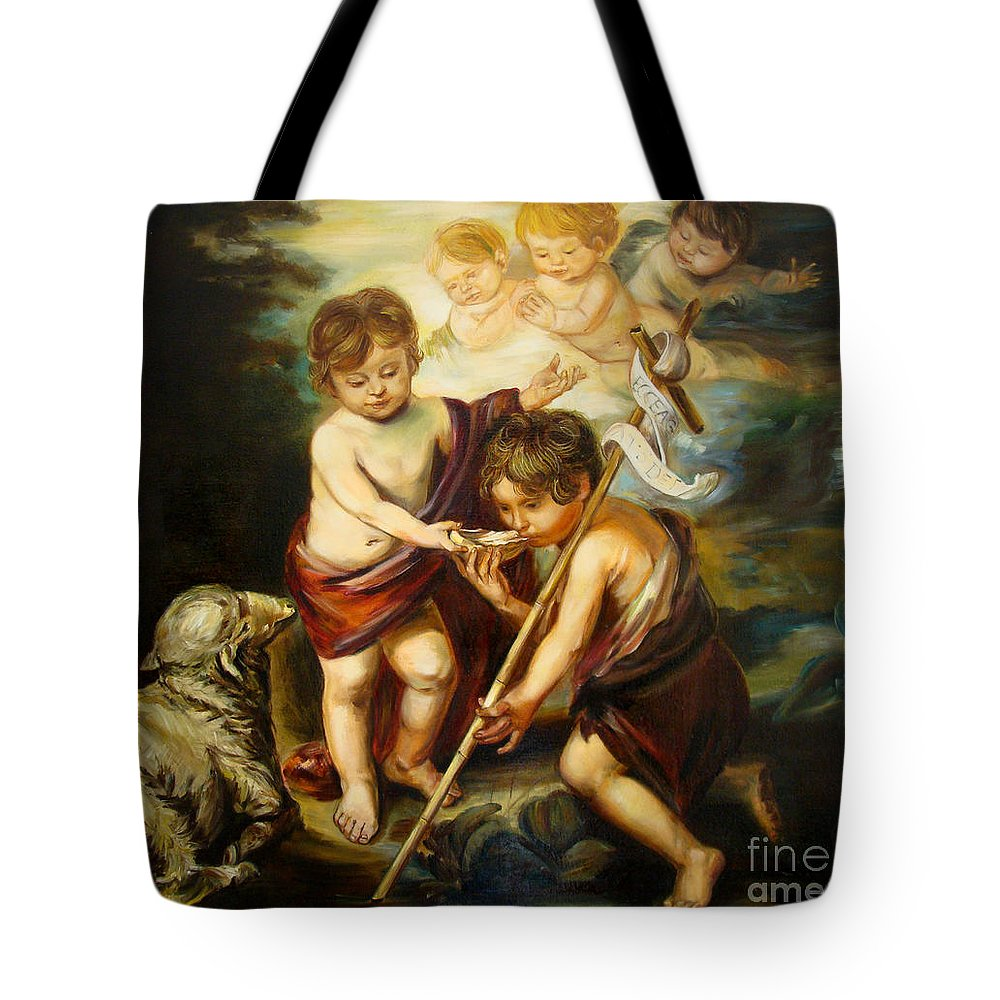 Classic Art Tote Bag featuring the painting Saint John Baptist by Silvana Abel